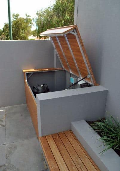 Hiding Pool Equipment Ideas