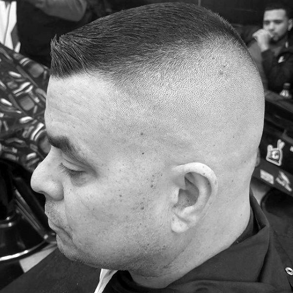 High And Tight Haircut Styles For Gentlemen Shaved Sides