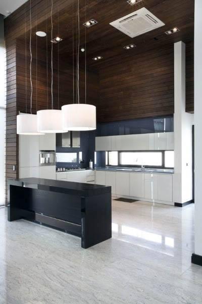 High Ceiling Modern Kitchen Design Ideas