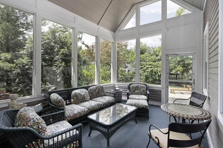 High Ceiling Screened In Porch