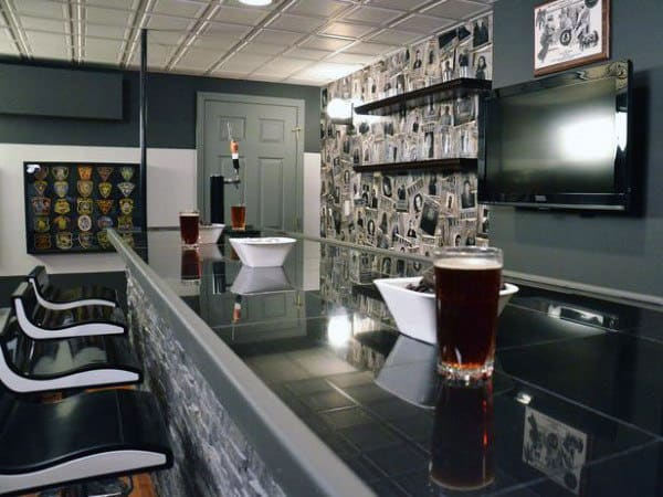 High End Man Cave Bar Designs