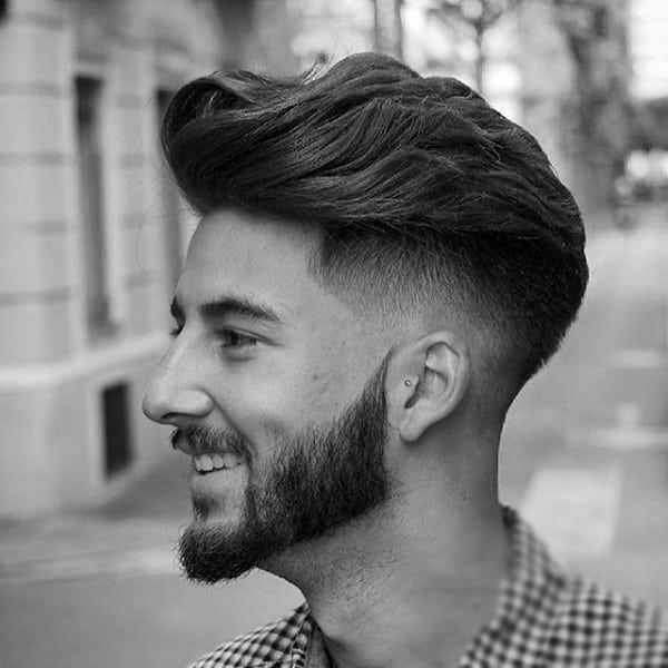 High Fade Guys Medium Length Hairstyles