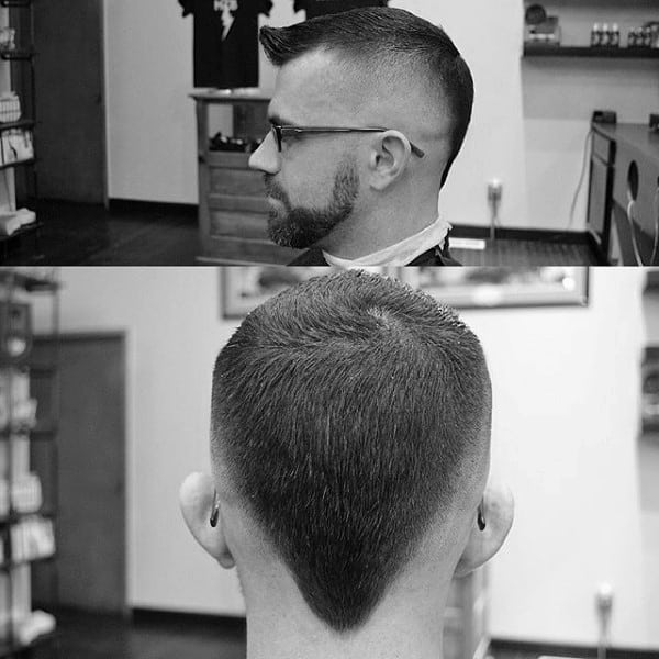 High Skin Fade Mens Faux Hawk Haircuts