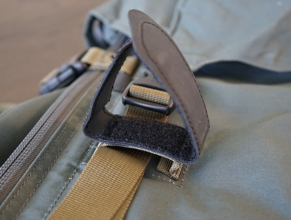 Hiking Pole Attachement Open Fjallraven Kajka Backpack Velcro Detail