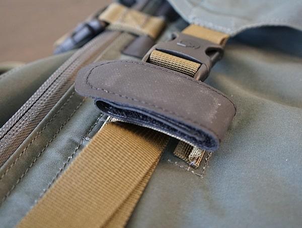 Hiking Pole Loop Velcro Attachement Closed On Fjallraven Kajka Backpacks