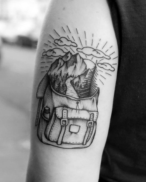Hiking Tattoo For Males
