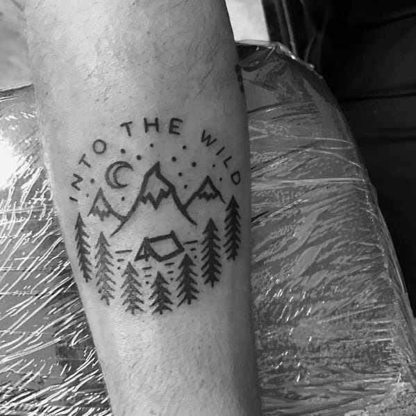 Hiking Tattoo For Men
