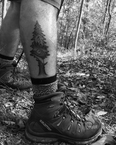 Hiking Tattoos For Gentlemen