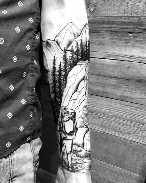Hiking Tattoos For Men
