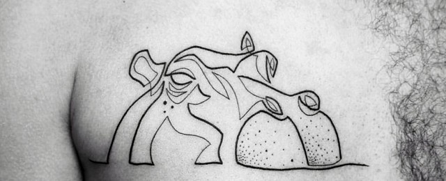 Hippo Tattoo Designs For Men