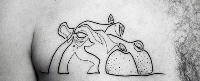 Hippo Tattoo Designs For Men