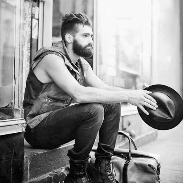 Hipster Haircut For Men Undercut Quiff With Taper Fade On Sides