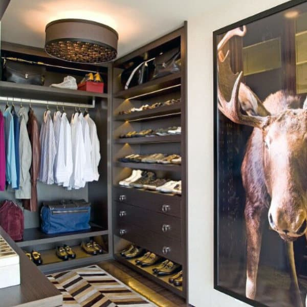 Hipster Mens Closet Design