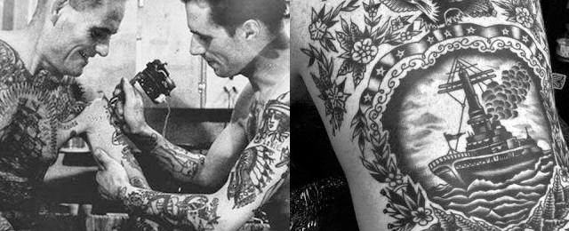Rose Dagger Tattoo Original Bowery Flash Black Short-Sleeve T-Shirt
