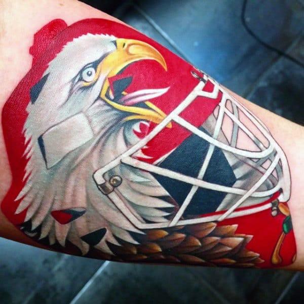 Hockey Helmet Mens Arm Tattoos