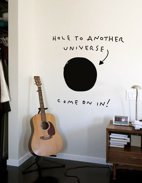 Hole To Another Universe Man Cave Decor Wall Sticker
