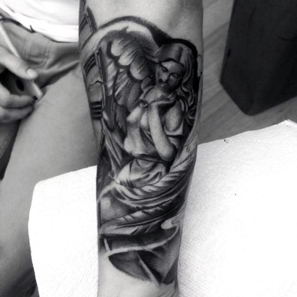 Holy Religious Angel Tattoos For Men