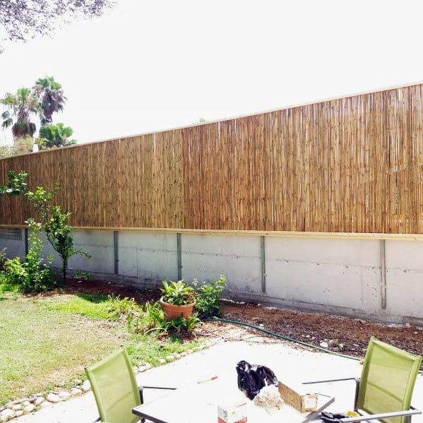 Home Backyard Bamboo Fence