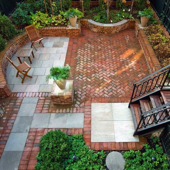 Home Backyard Brick Patio