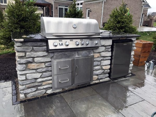 Home Backyard Built In Grill Stone