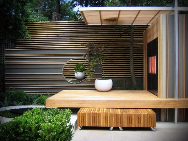 Home Backyard Designs Bamboo Fence Modern Inspiration