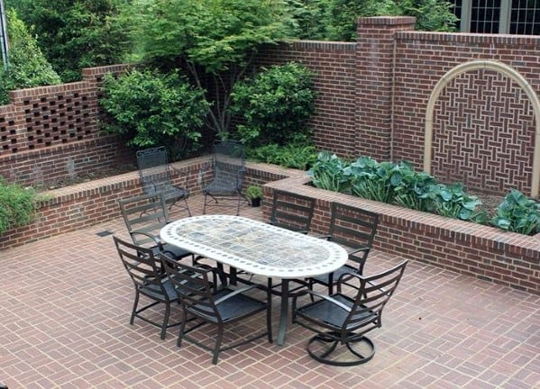 Home Backyard Designs Brick Patio