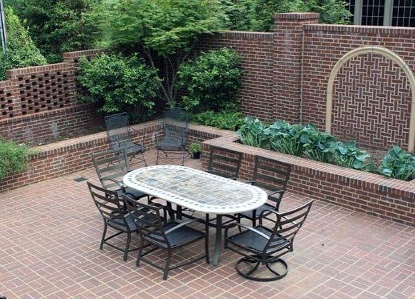 Home Backyard Designs Brick Patio