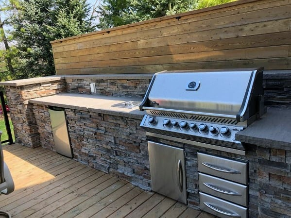 Home Backyard Designs Built In Grill