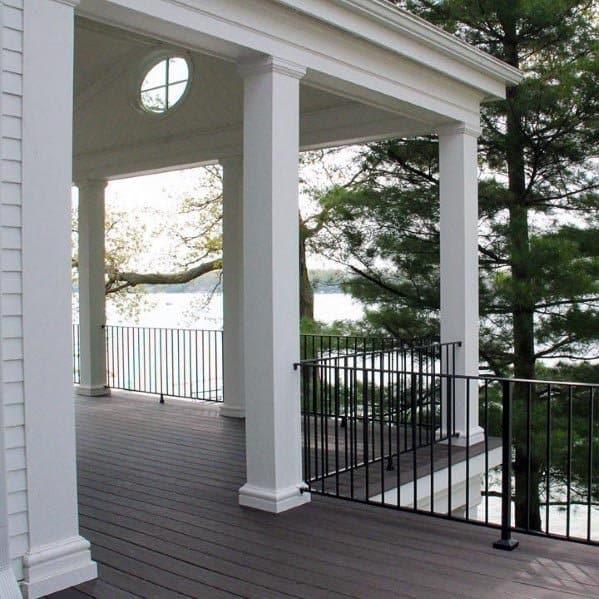 Home Backyard Designs Deck Railing
