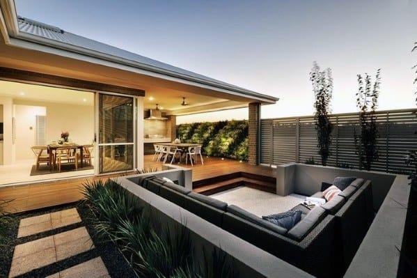 Home Backyard Designs Deck Roof