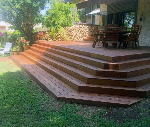 Home Backyard Designs Deck Steps