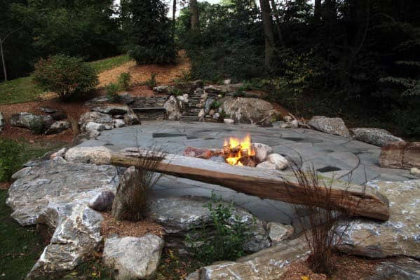 Home Backyard Designs Fire Pit Landscaping