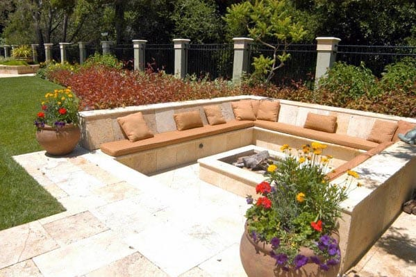 Home Backyard Designs Fire Pit Seating