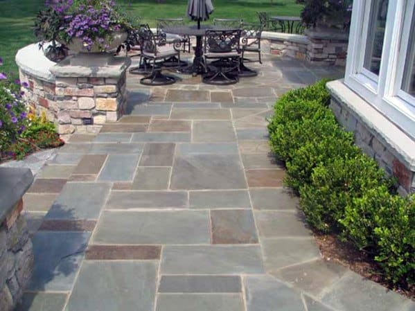 Home Backyard Designs Flagstone Patio