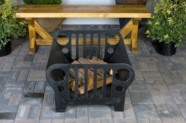 Home Backyard Designs Jeep Themed Metal Fire Pit