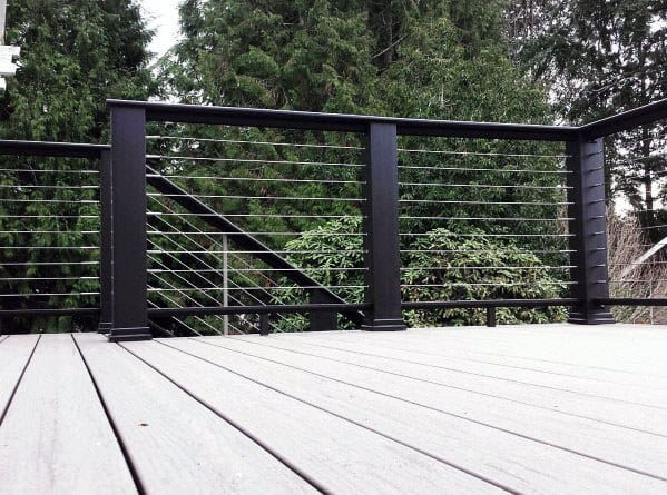 Home Backyard Designs Metal Deck Railing