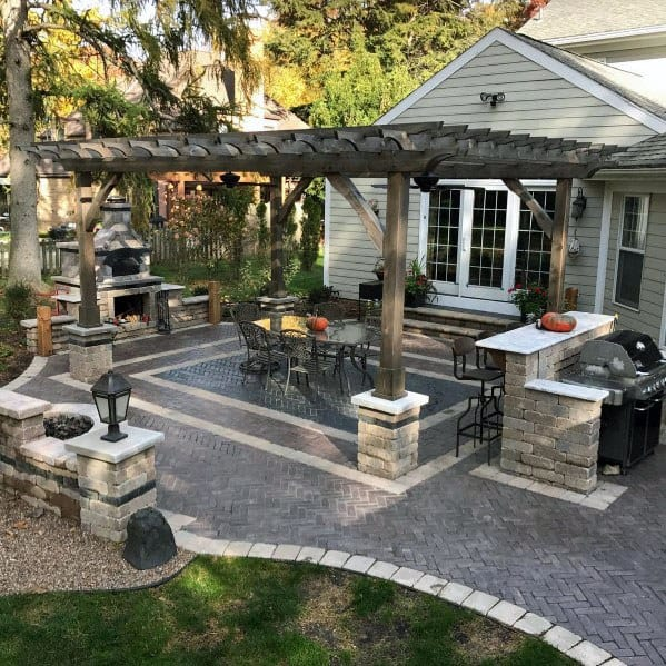 Ideas For Old Cement Patio: Top 60 Best Paver Patio Ideas
