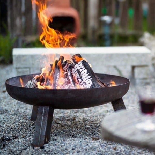 Home Backyard Designs Steel Fire Pit