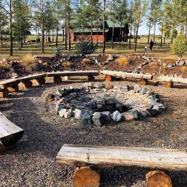 Home Backyard Fire Pit Landscaping