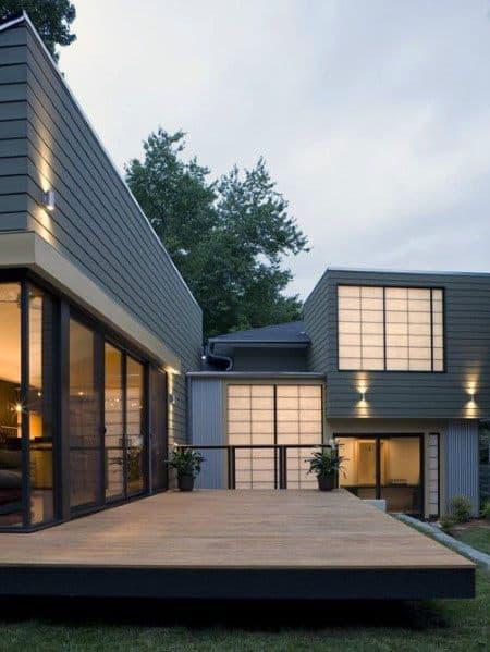 Home Backyard Floating Deck Modern Ideas