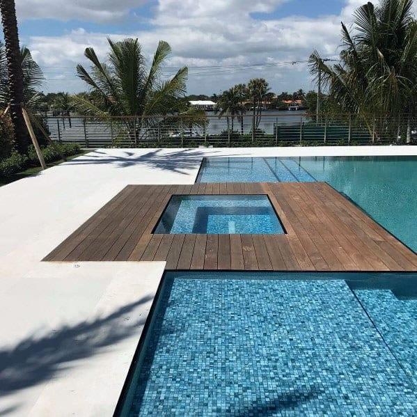 Home Backyard Hot Tub Deck Pool