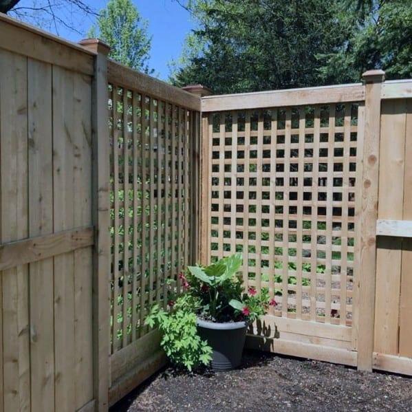 Home Backyard Lattice Designs Wooden Fence