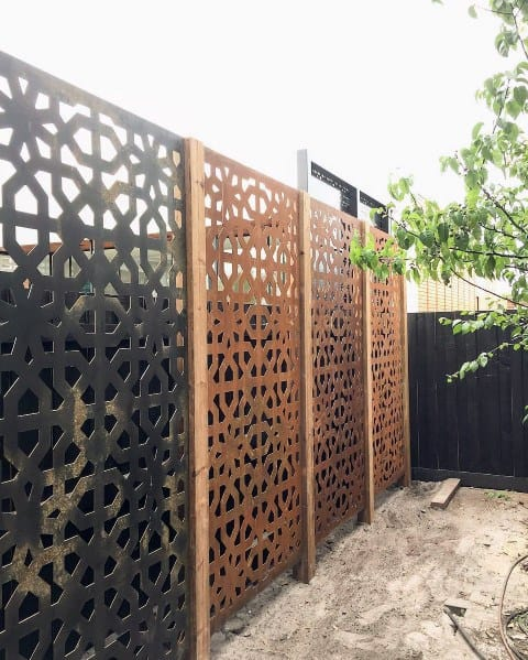 Home Backyard Metal Pattern Privacy Fence