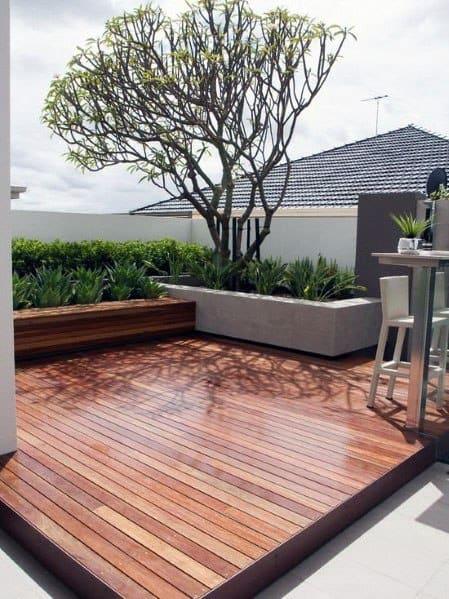 Home Backyard Modern Deck