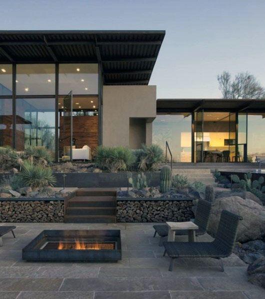 Home Backyard Modern Patio