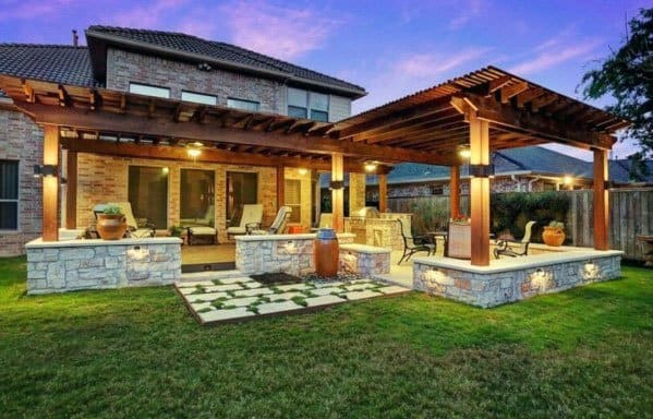 Top 60 Patio Roof Ideas - Covered Shelter Designs on Backyard Patio  id=62657