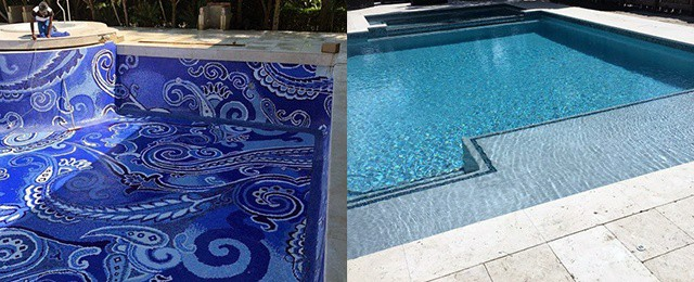 Home Backyard Pool Tile Ideas Designs