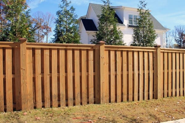 Home Backyard Wooden Fence