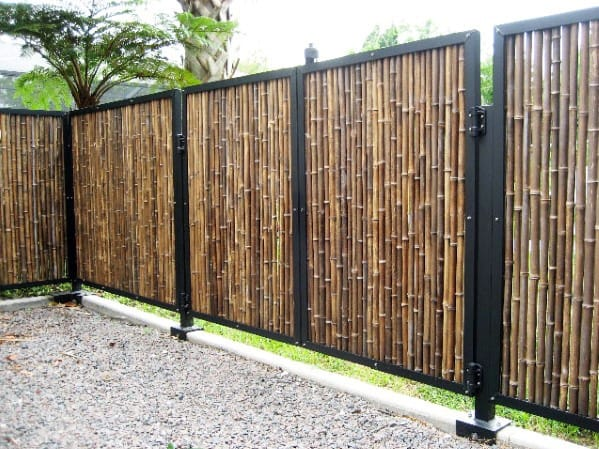 Home Bamboo Fence Ideas