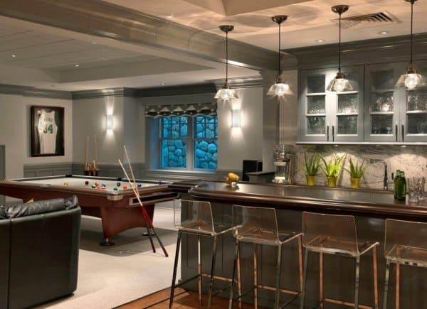 Home Bar Basement Lighting Fixtures